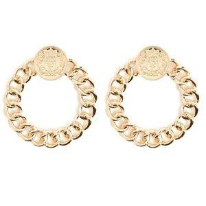 New! Gold Heraldic Chain Earrings
